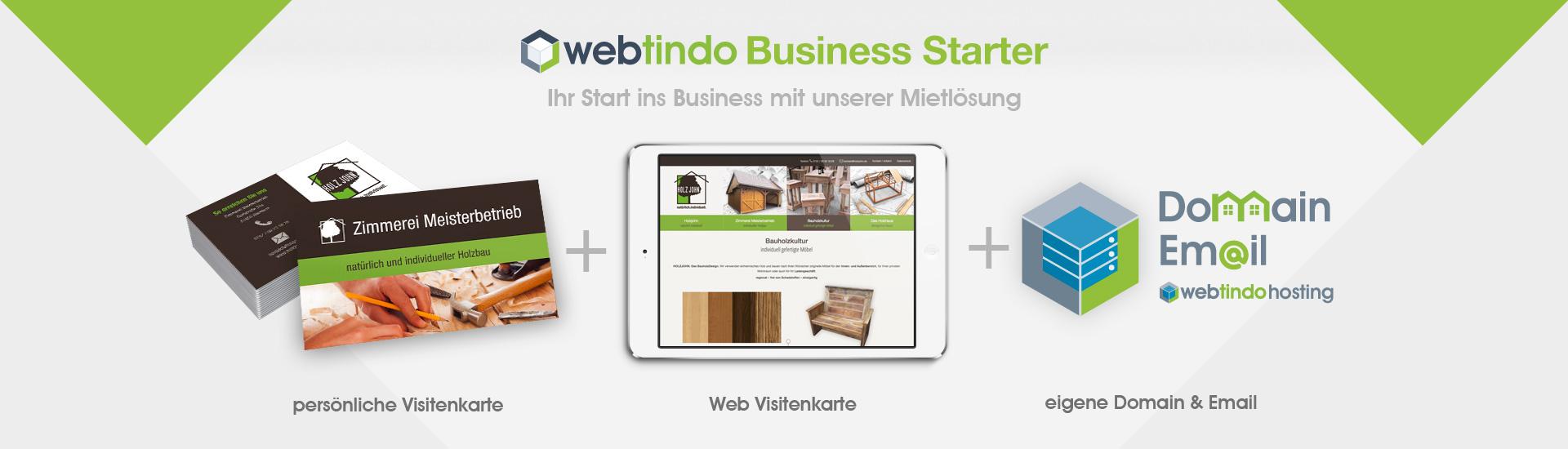 Visitenkarte Starter Webtindo